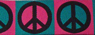 Teal Pink Peace Signs